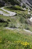 Road in Italian Alps Royalty Free Stock Image