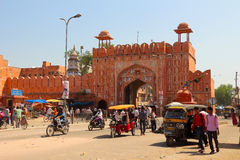 The road of Jaipur Stock Image