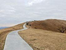 Road. Japan, faraway, far ,mountain ,yellow,grass, intricate Stock Photos