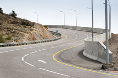 Road Jebel Akhdar. Image of a road on mountain Jebel Akhdar in Oman royalty free stock photo