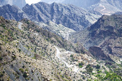 Road Jebel Akhdar Oman. Image of road on Jebel Akhdar Saiq Plateau in Oman stock image