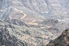 Road Jebel Akhdar Oman. Image of road on Jebel Akhdar Saiq Plateau in Oman royalty free stock images