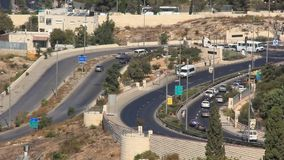 Road in Jerusalem, Israel stock video