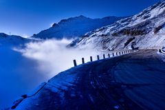 The road of jokul. This is the road of jokul royalty free stock image