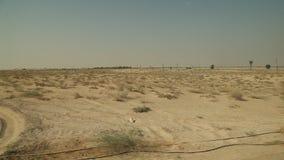 Road journey in Desert Dubai stock footage
