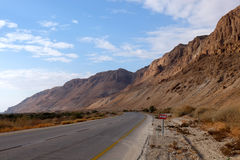 Road in Judea Desert. Stock Photos