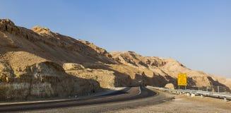 Road in Judean desert. Israel. Royalty Free Stock Photos