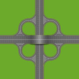 Road junction. Royalty Free Stock Photography