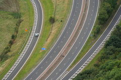 Road junction. Aerial view of road junction Stock Image