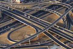Road junction from above in Dubai.  Stock Images