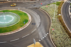 Road junction circular motion Stock Photos