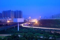 Road junction at dawn Stock Photos