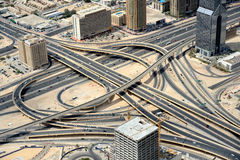 Road junction in Dubai Royalty Free Stock Photography