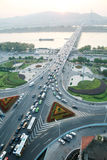 A road junction  at evening. In changsha china Royalty Free Stock Photos