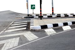 Road junction Stock Photos