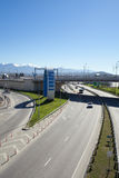 Road junction in Sochi, Russia Stock Photo
