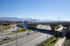 Road junction in Sochi, Russia Stock Images