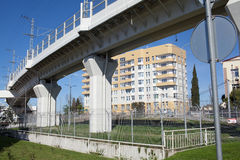 Road junction in Sochi, Russia Royalty Free Stock Images