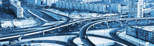 Road junction in the streets of Moscow Stock Photos