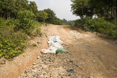 Road through jungle royalty free stock photography
