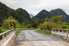 Road through the jungle, Ke-Bang National Park, Vietnam Stock Images