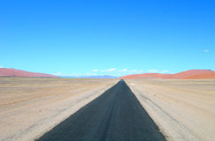 Road in Kalahari, Namibia Africa Royalty Free Stock Photos