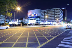 Road of kaohsiung city night view Stock Photo