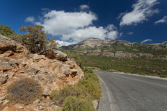 A road in Karpathos, Greece. Royalty Free Stock Image