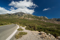 A road in Karpathos, Greece. Royalty Free Stock Images