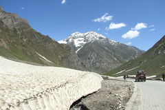 Road In Kashmir. Royalty Free Stock Photo