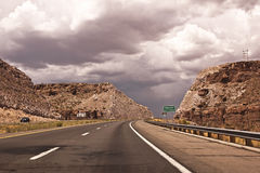 Road into Kingman, Arizona. This is a picture of Highway 40 into Kingman, Arizona royalty free stock photos