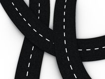 Road knot background Royalty Free Stock Image