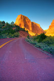 Road through Kolob Canyons Stock Images