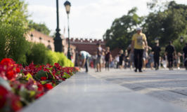 Road into the Kremlin, Moscow, Russia. stock photo