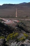 Road at La Fournaise Vulcano on Reunion island Stock Image
