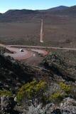 Road at La Fournaise Vulcano on Reunion island. France Stock Image
