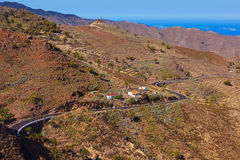 Road in La Gomera island - Canary Stock Photos