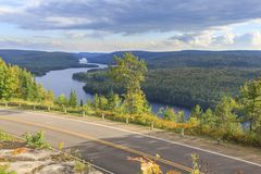 Lake Wapizagonke in La Mauricie National Park Royalty Free Stock Images
