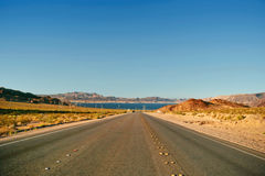 Road from Lake Mead near Hoover Dam Stock Images