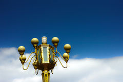 Road lamp and sky and cloud Royalty Free Stock Photo