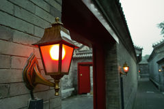 Road Lamps On Wall. Road lamps are on the old style walls Royalty Free Stock Photography