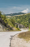 Road landscape. Road in beautiful mountain in Bosnia and Herzegovina Stock Photos
