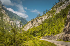 Road landscape. Road in beautiful mountain in Bosnia and Herzegovina, hdr effect Royalty Free Stock Photos