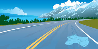 Road landscape crash danger mountains way Royalty Free Stock Photography