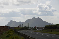 Road landscape 1. Road landscape in inland, Mauritius Royalty Free Stock Photo