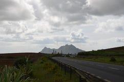 Road landscape 2. Road landscape in inland, Mauritius Stock Photos