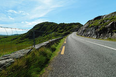 Road in landscape of Ireland Stock Images