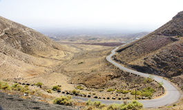 Road in a landscape of Lanzarote Stock Photos