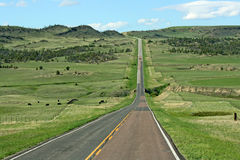 Road 191, landscape in Montana Royalty Free Stock Photos