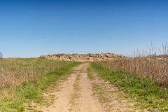 Road in the Landscape national-historical and archaeological reserve Stone Tomb , Ukraine Stock Photography